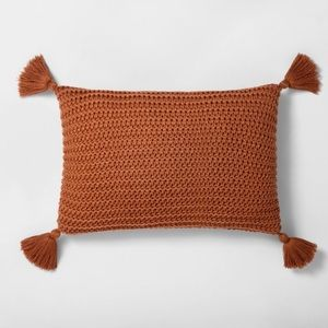 HEARTH AND HAND Magnolia Pumpkin Brown Pillow NWT
